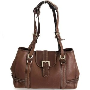 Longchamp Brown Leather Shoulder Bag Hobo Tote